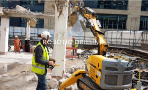 Brokk Demolition: Brokk 100 Destroying a Support Column